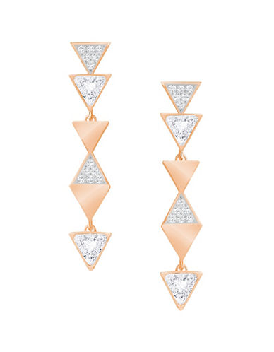 Swarovski Swarovski Crystal Triangular Pave Drop Earrings-ROSE GOLD-One Size