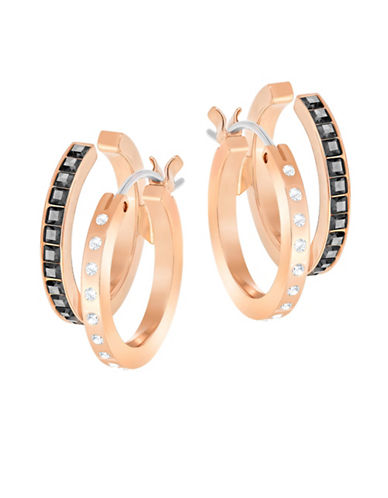 Swarovski Hint Pave Hoop Earrings-ROSE GOLD-One Size