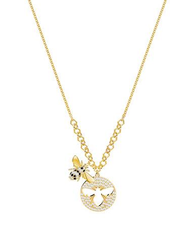 Swarovski Lisabel Pavé Crystal Pendant Necklace-YELLOW-One Size