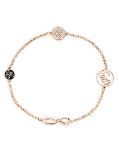 Swarovski Remix Strand Faith Bracelet-ROSE GOLD-One Size