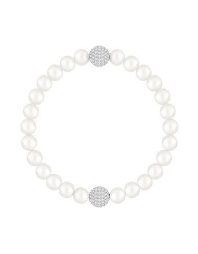 Swarovski Swarovski Remix Faux Pearl and Crystal Beaded Bracelet-WHITE-One Size
