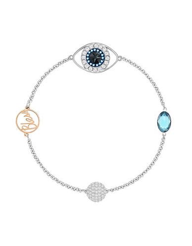Swarovski Swarovski Remix Crystal Eye Symbol Bracelet-SILVER-One Size