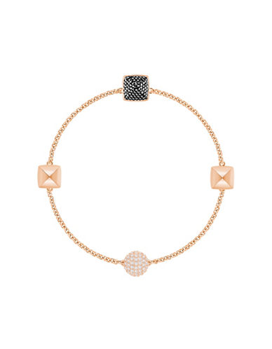 Swarovski Crystal Chain Bracelet-ROSE GOLD-One Size