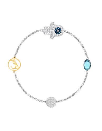 Swarovski Swarovski Remix Crystal Hamsa Hand Symbol Chain Bracelet-SILVER-One Size