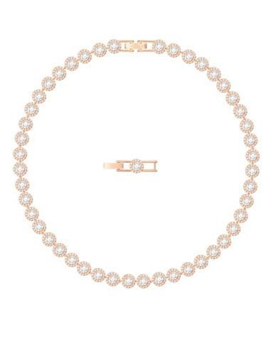 Swarovski Angelic All-Around Necklace-ROSE GOLD-One Size