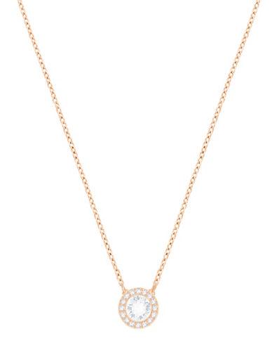 Swarovski Angelic Round Pendant Necklace-ROSE GOLD-One Size