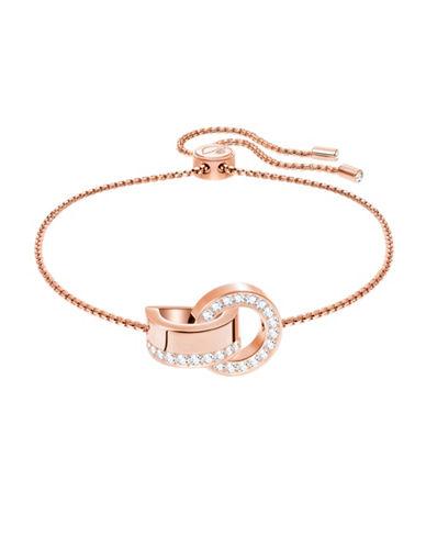 Swarovski Hollow Crystal Adjustable Bracelet-ROSE GOLD-One Size