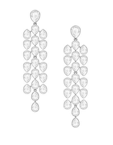 Swarovski Lake Crystal Pear Chandelier Earrings 89800993