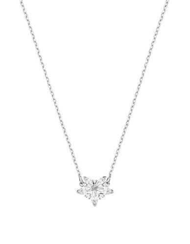 Swarovski Lady Crystal Pendant Necklace-SILVER-One Size