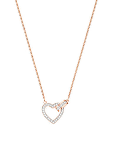 Swarovski Lovely Crystal Heart Necklace-ROSE GOLD-One Size