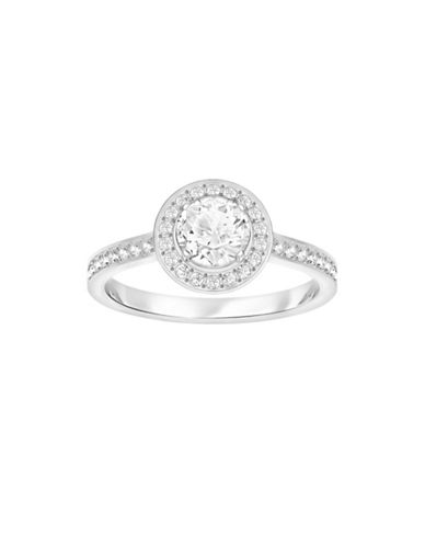 Swarovski Attract Light Crystal Round Ring-SILVER-One Size