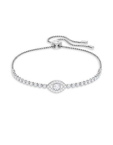 Swarovski Subtle Evil Eye Pavé Crystal Bracelet-SILVER-One Size