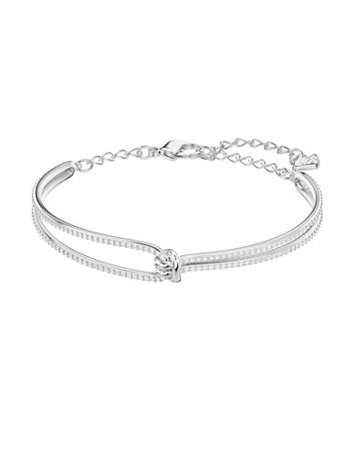 Swarovski Lifelong Knot Bangle Bracelet-SILVER-One Size