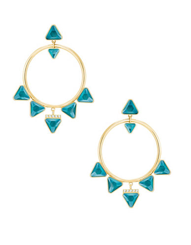 Swarovski Labyrinth Crystal Hoop Earrings-TURQUOISE-One Size