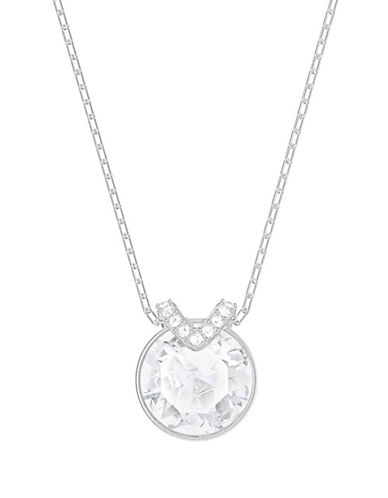 Swarovski Bella V Crystal Pendant Necklace-SILVER-One Size