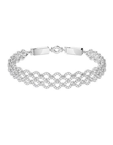 Swarovski Lace Pavé Crystal Bracelet-SILVER-One Size