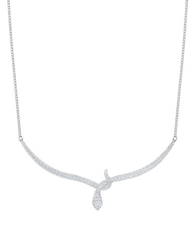 Swarovski Leslie Crystal Pendant Necklace-SILVER-One Size