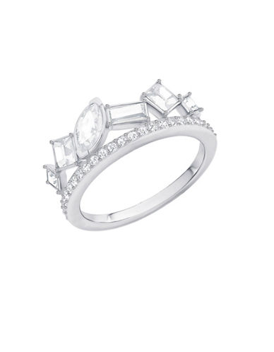 Swarovski Henrietta Pave Cocktail Ring-SILVER-One Size