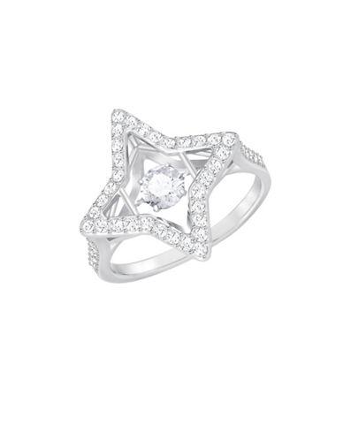 Swarovski Sparkling Dance Star Cocktail Ring-SILVER-One Size