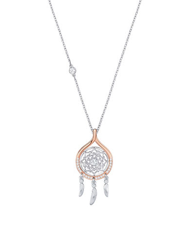Swarovski Crystal Dream Catcher Necklace-TWO TONE-One Size