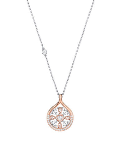 Swarovski Crystal Anchor and Knot Necklace-TWO TONE-One Size