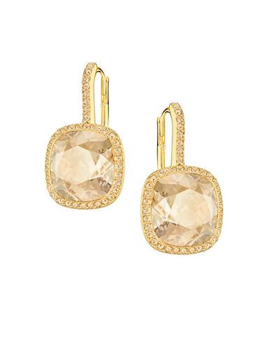 Swarovski Lattitude Crystal Earrings-GOLD-One Size
