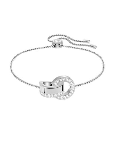 Swarovski Hollow Adjustable Bracelet-SILVER-One Size