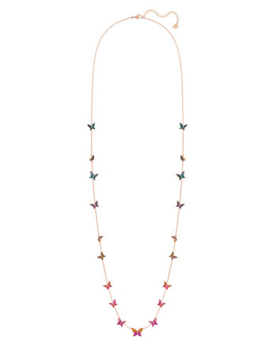 Swarovski Lilia Pavé Crystal Strandage Single Strand Necklace-MULTI-One Size