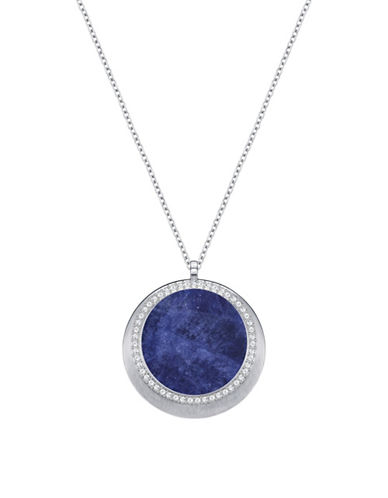 Swarovski Lucius Crystal Round Pendant Necklace-BLUE-One Size