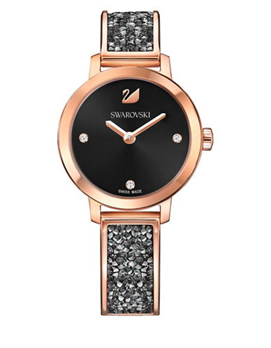 Swarovski Cosmic Rock Bangle Bracelet Watch-ROSE GOLD-One Size
