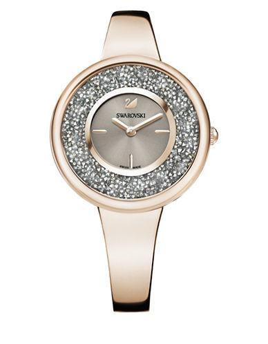 Swarovski Crystalline Pure Swarovski-Embellished Stainless Steel Bracelet Watch-ROSE GOLD-One Size