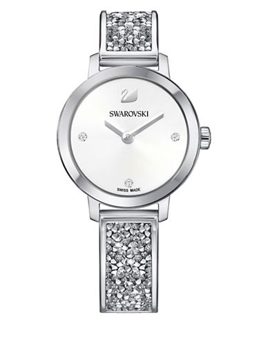 Swarovski Cosmic Rock Bangle Bracelet Watch-SILVER-One Size