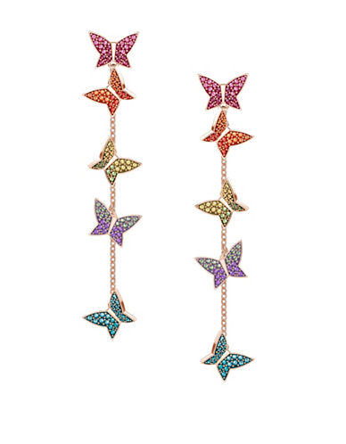Swarovski Lilia Butterfly Crystal Drop Earrings-MULTI-One Size