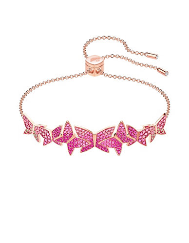 Swarovski Lilia Butterfly Bangle Bracelet-PINK-One Size