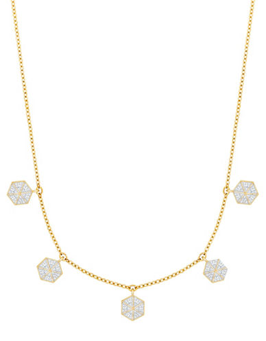 Swarovski Lisabel Pavé Crystal Choker Necklace-YELLOW-One Size