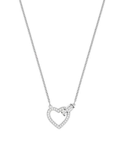Swarovski Lovely Crystal Heart Necklace-SILVER-One Size