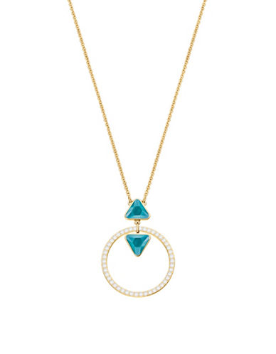 Swarovski Labyrinth Crystal Ring Necklace-TURQUOISE-One Size