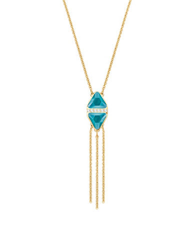 Swarovski Labyrinth Crystal Tassle Necklace-TURQUOISE-One Size