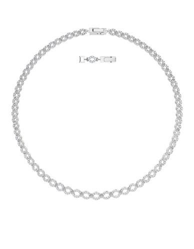 Swarovski Lace Pavé Crystal All-Around Necklace-SILVER-One Size