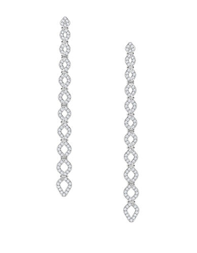 Swarovski Lace Pavé Crystal Drop Earrings-SILVER-One Size