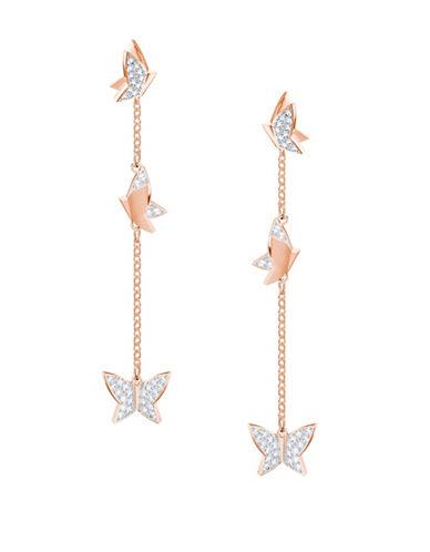 Swarovski Lilia Crystal Drop Earrings-ROSE GOLD-One Size