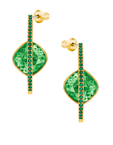 Swarovski Land of Hope Drop Earrings-GREEN-One Size