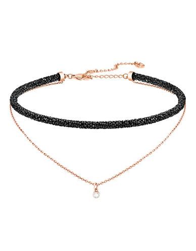 Swarovski Long Beach Crystal Necklace-BLACK-One Size