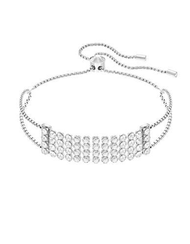 Swarovski Fit Crystal Row Bracelet-SILVER-One Size