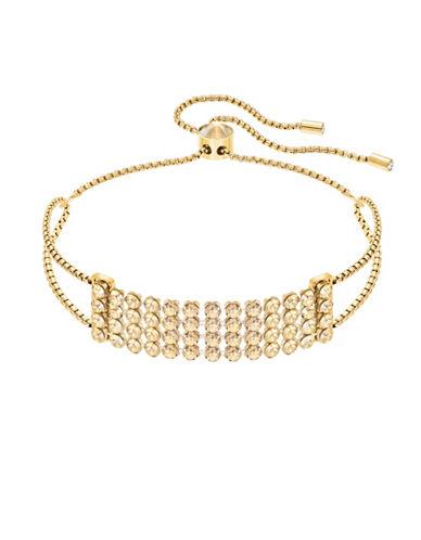 Swarovski Fit Crystal Row Bracelet-GOLD-One Size