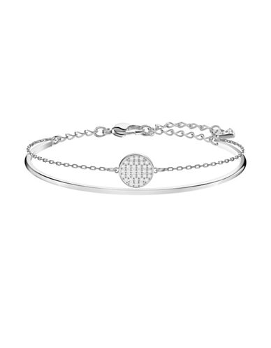 Swarovski Ginger Crystal Bangle Bracelet-SILVER-One Size