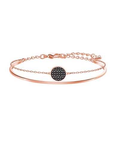 Swarovski Ginger Crystal Bangle Bracelet-ROSE GOLD-One Size