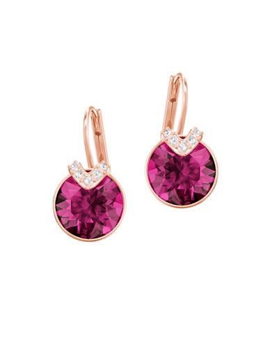 Swarovski Bella Fuchsia Crystal Drop Earrings 89800970