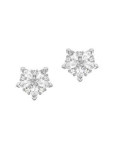 Swarovski Lady Crystal Stud Earrings-SILVER-One Size