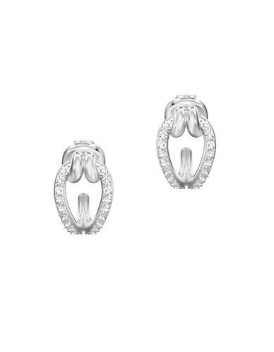 Swarovski Lifelong Hoop Pierced Earrings-SILVER-One Size